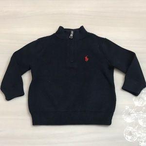 Ralph Lauren baby boy blue zipper sweater
